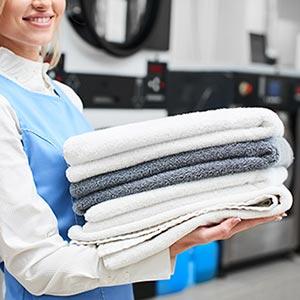 Privattvätt; Kemtvätt på kontoret; Företagstvätt; Matttvätt